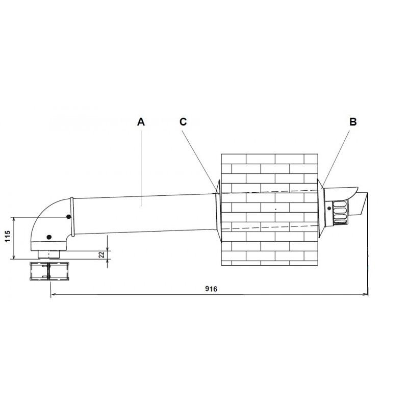 caldaia-beretta-tubo-scarico-fumi-condensazione-20027555-punto-termoidraulica