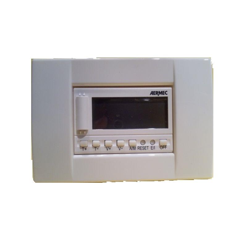 AERMEC TERMOSTATO LCD ELETTRONICO DA INCASSO TPFW BIANCO puntotermoidraulica