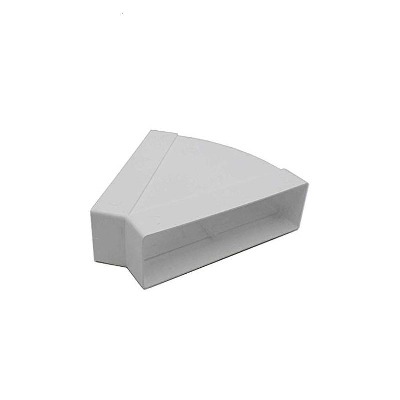 gomito 45° rettangolare orizzontale puntotermoidraulica