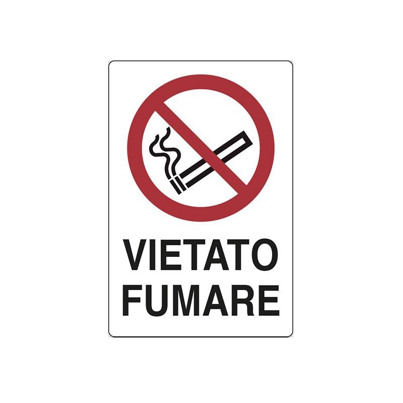 CARTELLO-ALLUMINIO-VIETATO-FUMARE PUNTOTERMOIDRAULICA