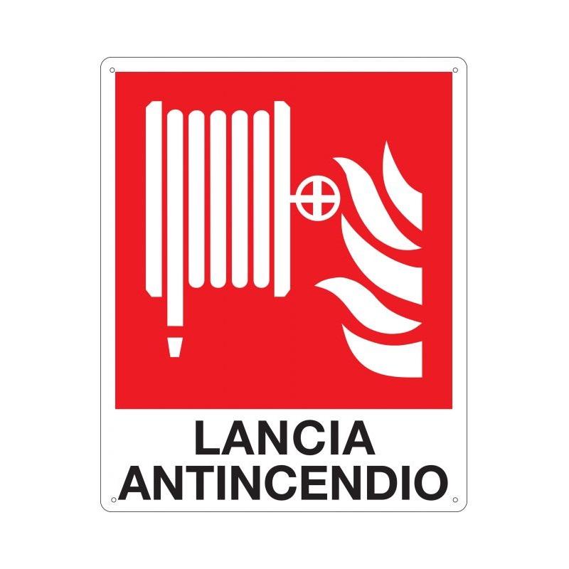 cartello indicatore lancia antincendio puntotermoidraulica